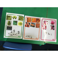 He listened for the initial sounds and wrote the correct letter.