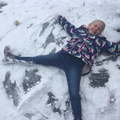 A slightly more effective snow angel! ☃️