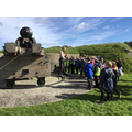 The children pushed this very heavy cannon round!