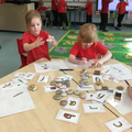 Practising our letters (or drawing pictures!)