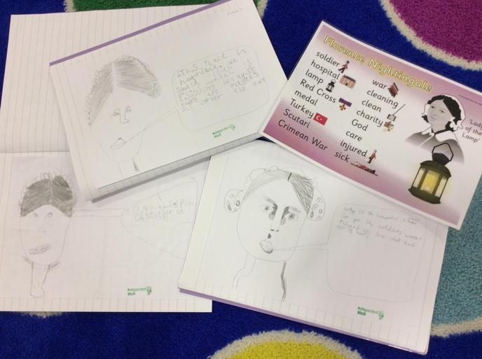 The children drew some great pictures of Florence.