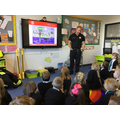 Thank you to Firefighter Neil - STOP, DROP, ROLL!