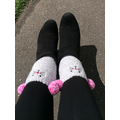 Even Miss Webster wore silly socks!!