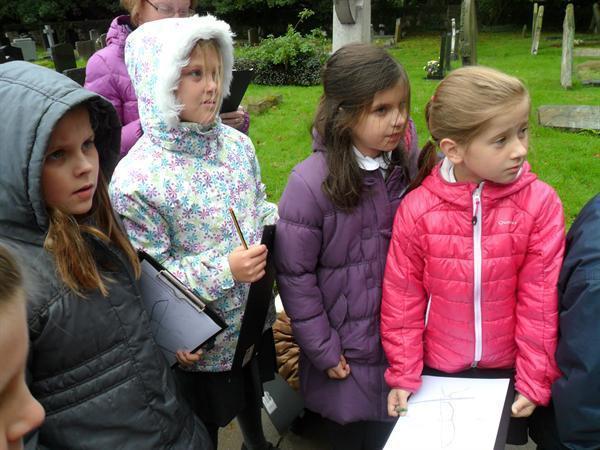 The girls listening intently!