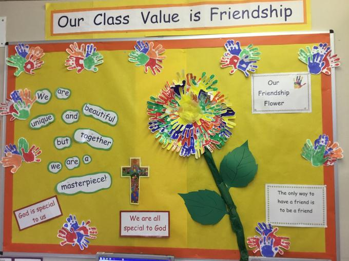 Our 'Friendship' display in Class R.