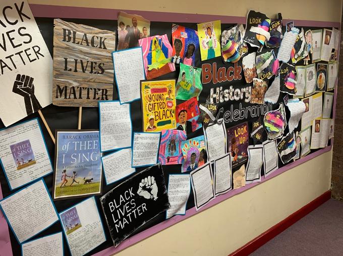 Black Lives Matter Writing Unit Display
