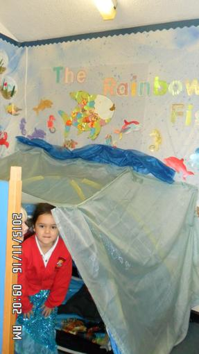 We have been having lots of fun in our sea den.