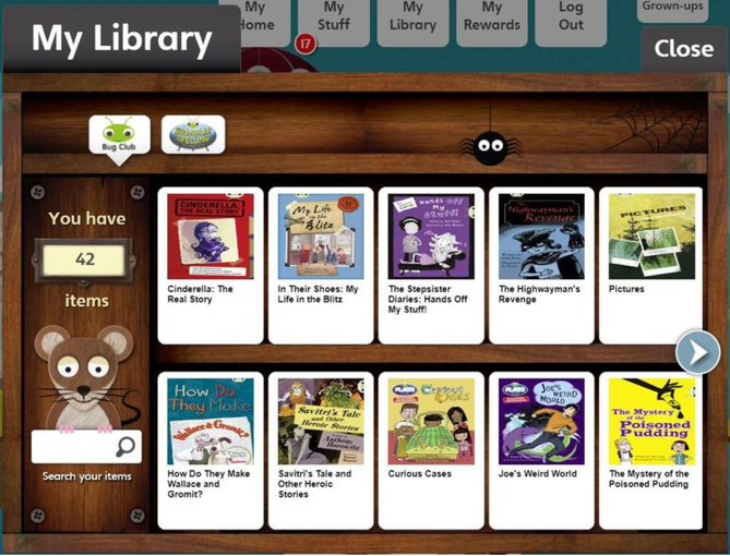 Completed books will then move to your library!