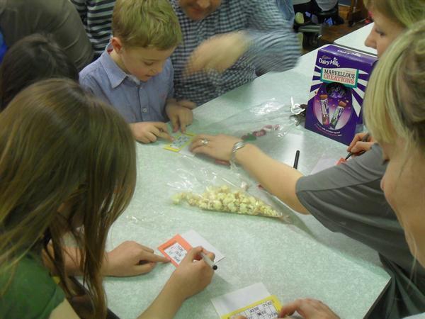 Checking our Bingo Cards