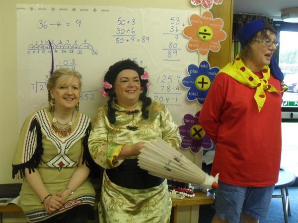 Can you guess who the teachers are dressed as?