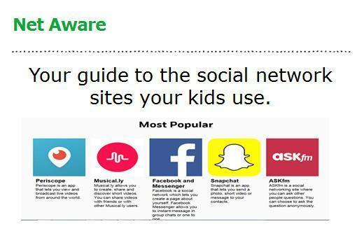 You can find some of the most popular social network sites kids use here...