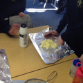We added salt to the 'shaken' cream.
