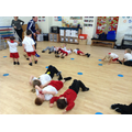Moving the treasure using our bodies.