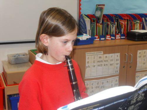 Practising the clarinet