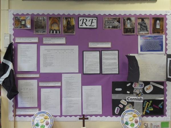 Class 3 display - Truro Cathedral and St. Piran