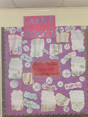 Class 2 display Christmas around the world