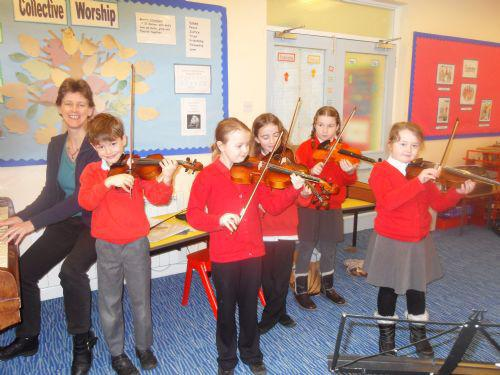 Barbara teaches the violin and viola