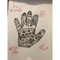 ZH - zentangle hand