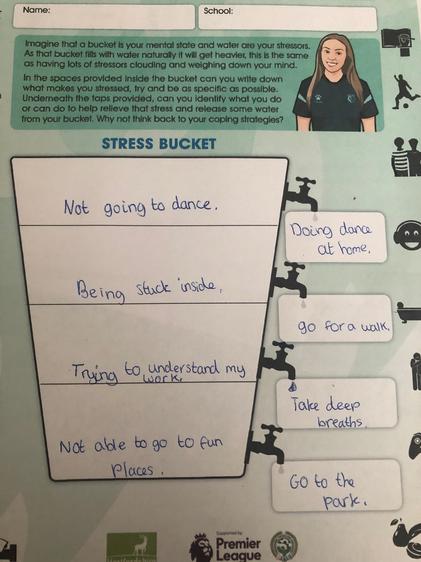 The stress bucket activity