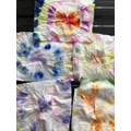Some more baby wipe tie 'n' dye art by LO!