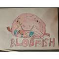 A cute but gross Blobfish by LW