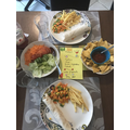 Z's menu and meal for dinner