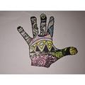 KDF - zentangle hand