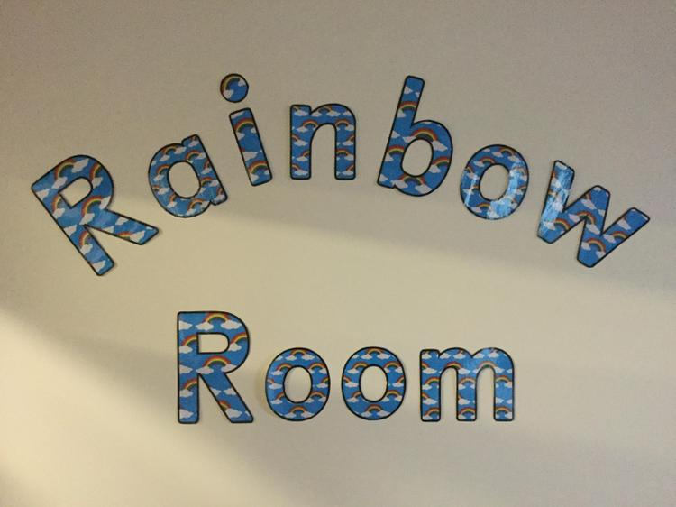 Our beautiful Rainbow Room. Named by the children, for the children