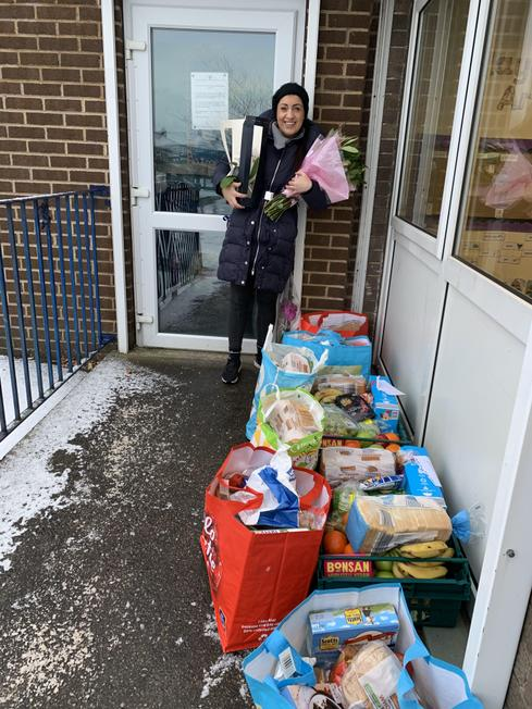Food Bank parcels ready for collection