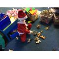 Santa sorting presents