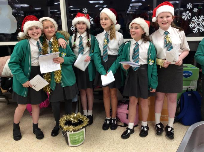 Singing at our local Sainsburys.