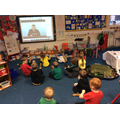 Music listening to Michael Rosen's We're Going On A Bear Hunt