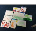 Sending Cards to our Friends not in School - We are Happiest when we are Altogether