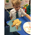 Creating Gingerbread Houses from our English story Hansel & Gretel