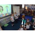 Children presenting their performance from Charanga