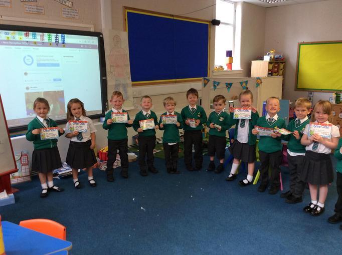Reception Celebrate a Successful First Full Week at School