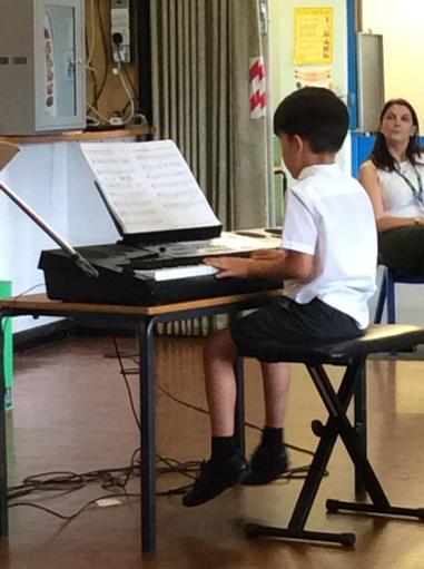 Children perform in our assemblies.