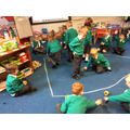 Acting out the story of 'Jesus Calming of the Storm'