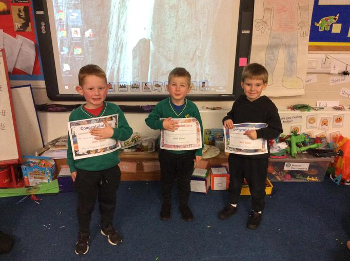 Reception Stars this week.