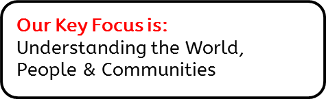 Our Key Focus is: Understanding the World, People & Communities