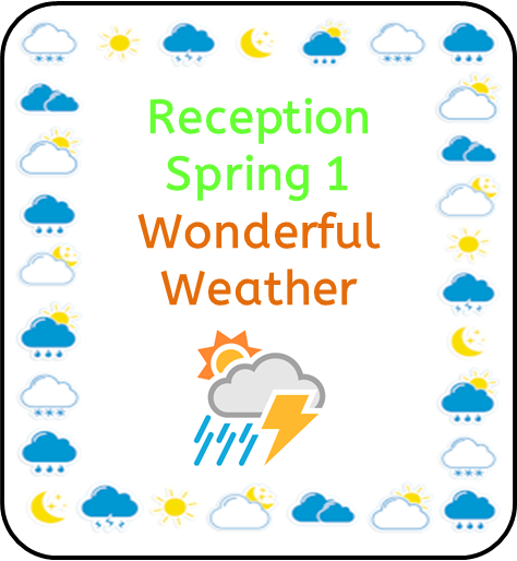 Reception Spring 1 Topic Web: Wonderful Weather.