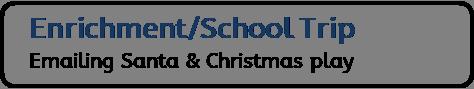Enrichment / School Trip: Emailing Santa & Christmas play
