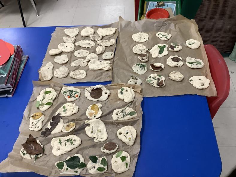 our salt dough Christmas decorations!