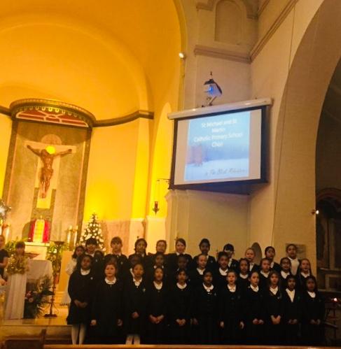 Full Choir singing 'In the Bleak Mid- Winter'