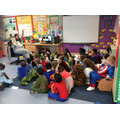 A year 1 class story time.