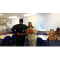 Mrs Leath poses with her hero!