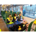 Our year 6's enjoying some train leisure time.