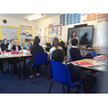 Mrs Leath reads a chilling story to year 6.
