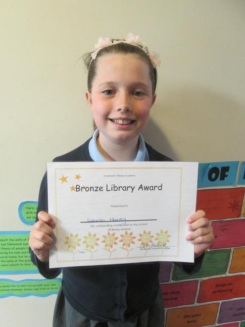 Lauren - Bronze Librarian Award