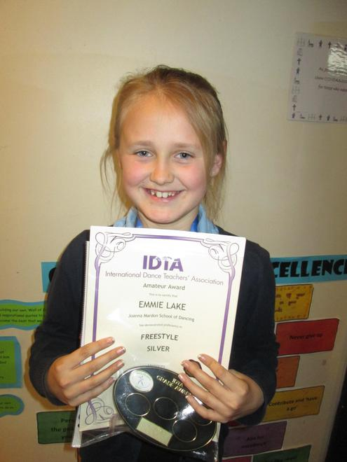 Emmie - various dance awards and exams